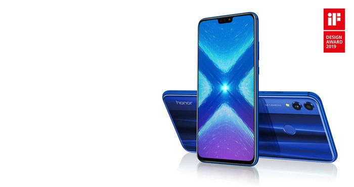 Hier zie je de Huawei Honor 8X blauw. Dit is één van de beste mobieltjes voor scholieren van 2019/2020.