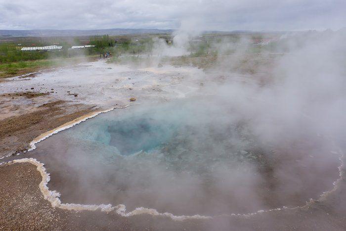 Foto van Geiser in IJsland