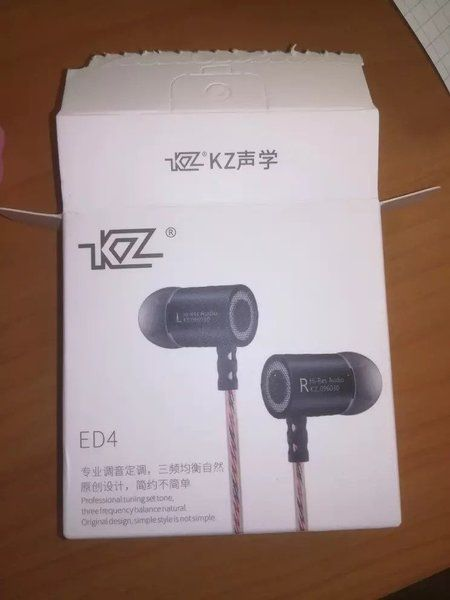 KZ ED4 oordopjes aliexpress verpakking met oordoppen