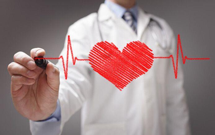 tekening van een hart met hartslagen