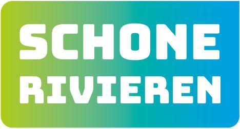 Het logo van Schone rivieren