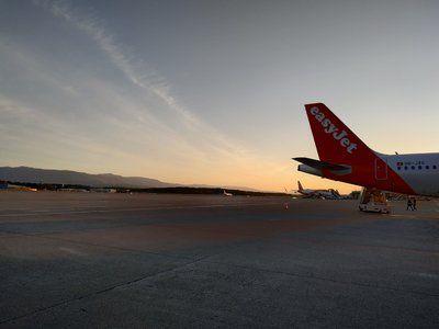 Foto vanuit vliegtuig naar IJsland via Genève