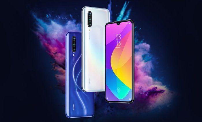 Één van de beste mobieltjes voors scholieren 2019. Xiaomi Mi A3 in de kleuren blauw, zwart en wit.